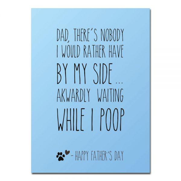 woefeltje hond vaderdag kaart