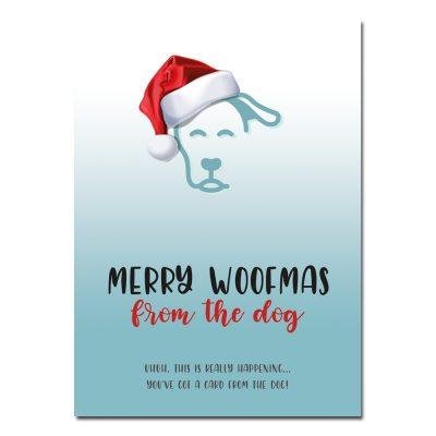 woefeltje kerstkaart honden kerstkaart Merry woofmas from the dog