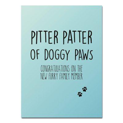 woefeltje kaart nieuwe hond pitter patter