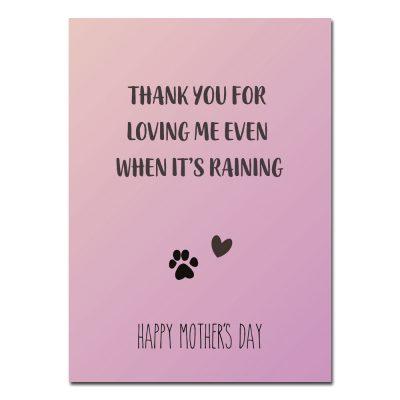 woefeltje hond moederdag kaart