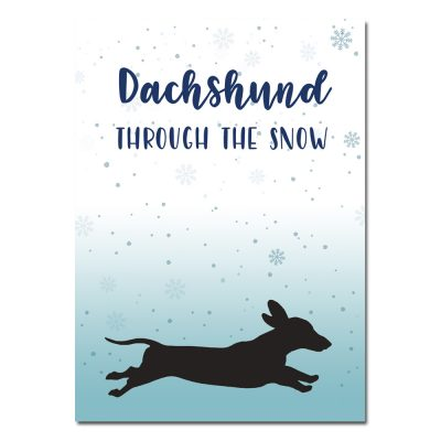 woefeltje Teckel kerstkaart honden kerstkaart teckel dachshund