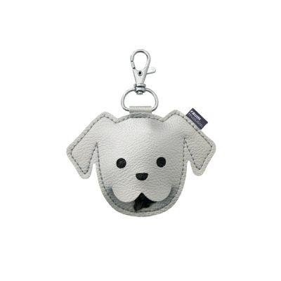 Puppy poepzakjeshouder zilver
