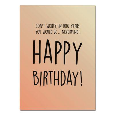 woefeltje verjaardagskaart happy birthday hondenkaart